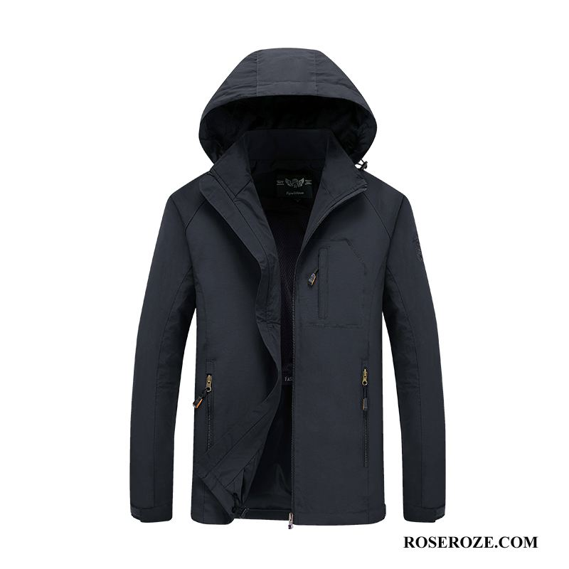 Jassen Heren Jack Losse Plus Kasjmier Hete Verkoop Trenchcoat Outdoor Zwart